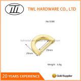 Light Gold Metal Flat Mini D Ring para sacos