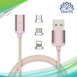 3 in 1 Kabel van de Gegevens van het Metaal van de Aandrijving USB Magnetische met Micro USB & Verlichting & Type C voor Androïde iPhone7/6s/6 Samsung Sony Xiaomi