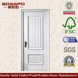 Pintura blanca MDF Puerta de madera por habitación interior (GSP8-036)