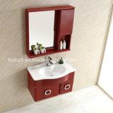 赤い木製様式のステンレス鋼の虚栄心の浴室用キャビネット(T-098)