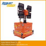 Tour mobile d'éclairage LED de mât télescopique hydraulique élevé