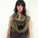 De acryl Sjaal van de Hals van Dame Fashion Knitted met Rand
