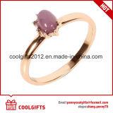 Insieme dorato dell'anello delle donne di bellezza dell'ultima gemma 5PCS/Set