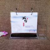 Calendrier de bureau acrylique promotionnel de qualité neuve faite sur commande de modèle
