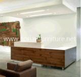 Bureau de compteur de réception de bureau stratifié par formica en bois de Corian