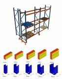 Синего и оранжевого цвета стеллажа для поддонов системы