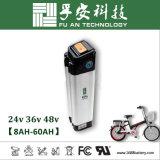 Pez plata 48V 10Ah Li-ion Battery Pack para E-Bike