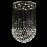 Folha de pingente de cristal de bola única popular Luminárias de LED para decoração de sala de estar 6002-13