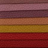 2017 couros gravados do Litchi elegante do PVC do plutônio para o saco (T902)