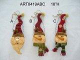 Navidad Papá Noel, el muñeco de nieve Jefe decoración navideña de ornamento, 3asst
