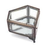 Retro Art-und Form Glasschmucksache-Ablagekasten