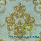 Nuevo papel pintado del PVC del diseño de la fábrica