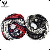 Aquecedor acrílico pesado morno da garganta do Crochet da listra do inverno
