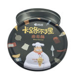 Round Tin Can Canning Biscuit Cake Food pour Babay