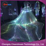Plastikfaser-Optikgewebe-Beleuchtung-Hochzeits-Kleid