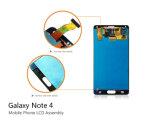 Het mobiele LCD van de Vervangstukken van de Telefoon Scherm van de Aanraking voor Samsung Note4