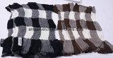 Châle 100% laine mercerisé foulard Imprimé à carreaux
