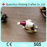 Mini perro de la Navidad de la resina animal de encargo hecha a mano para la decoración de la Navidad