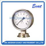 Medidor de pressão sanitária de tipo diafragma de aço inoxidável