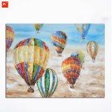 Peinture à l'huile de toile à ballon à air chaud à la décoration murale à la main