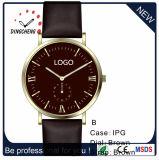 Reloj de cuero adaptable unisex de los hombres del reloj del movimiento de Japón, reloj de manera (DC-342)
