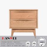 2つの引出しの固体木のベッドサイド・テーブルのNightstandの引出しの箱