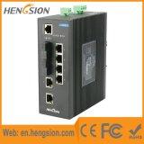 Um Ethernet de 1 megabit e interruptor de rede controlado industrial da fibra