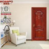Luxe découpant les modèles simples en bois de fleur de porte (GSP2-028)