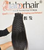 Человеческие волосы 100% Unprocessed трудных волос девственницы выдвижения 105g волос (+/-2g) /Bundle естественных бразильских Kinky прямые курчавые соткут ранг 9A