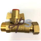 拡張管が付いているめっきされたニッケルの真鍮のロックできる球弁