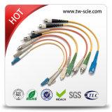 Duplex milímetro de cabo de correção de programa interno da fibra óptica de 2.0mm ou de 3.0mm
