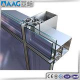 Bâti enduit d'aluminium de mur rideau de poudre de PVDF