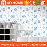 Papel de parede barato impermeável do PVC do material decorativo da parede interior