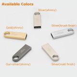 Goldkundenspezifisches Firmenzeichen-Metallminischlüsselring USB3.0 Pendrive (YT-3295-02)