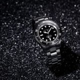 1000m Diveing Mens Watch Negro de acero inoxidable de 500m automático reloj automático de buceo