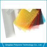 Panneau transparent en nid d'abeille en plastique