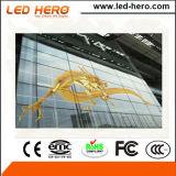 導英雄の屋内ガラス壁P5-6.67mm透過LED表示スクリーン