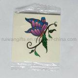 Tatuagem provisório Pele-Seguro personalizado da cor cheia, tatuagem do projeto da borboleta