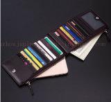 Бумажник портмона PU двойной застежки -молнии OEM тонкий для выдвиженческого подарка