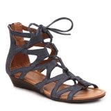 Лодыжка Atraps обувает сандалии планки пряжки римского типа Peep-Toe