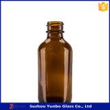 frasco de vidro ambarino do conta-gotas de 60ml Boston com o tampão de parafuso para vender