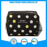 Sacchetto cosmetico della tela di canapa stampato piccolo fiore per il sacchetto di bellezza