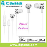 Apple Mfi Certified New Lightning fones de ouvido com controle de volume de microfone para iPhone 7