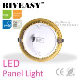 Алюминиевые Electroplated раунда Gold 5 Вт Светодиодные лампы панели