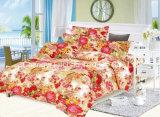 Padrão de flor colorido Microfibra Plain Dyed Cheap Bed Sheet Set Set de cama Home Textile