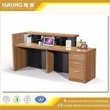 간단하고 우아한 최신 주문을 받아서 만들어진 사무실 테이블 디자인, 수신 테이블
