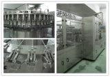 Machine à étiquettes recouvrante et de remplissage de bouteilles automatique