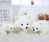 Lindo suave felpa del oso polar