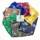 2017 Novo Xale tingidas impressas com Feather Fashion Lady lenço de seda