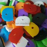 Casquillo dominante plástico redondo colorido, anillos protectores dominantes, casquillos dominantes elásticos del PVC